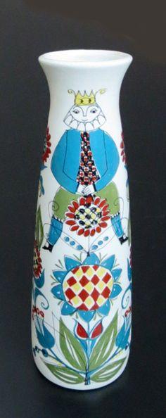 "Vintage Mid Century Modern Saga Figgjo Flint Fajanse Norway 9"" Handled Vase   eBay"