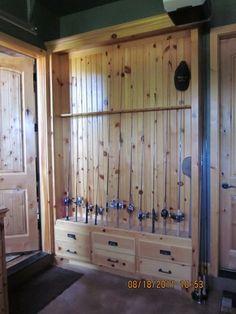 fishing pole rack( knotty pine): 480 640 Pixel, Lake Houses, Wood