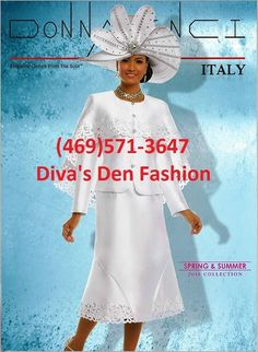 Donna Vinci Italy SPRING 2018 brings flare and fashion to the Spring season with brilliant color, unusual cuts and sparkle in all the right places.   Sizes: 6, 8, 10, 12, 14, 16, 18, 20, 22, 24, 26, 28, 30 https://www.divasdenfashion.com/collections/donna-vinci-spring-2018