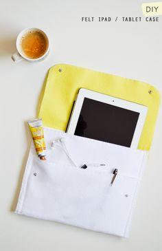 DIY: felt iPad / tablet case