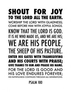 Psalm 100 to Print