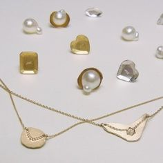 gold and pearl jewelry by yull.