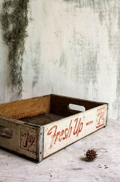 Vintage 7 up Wooden Soda Crate by SunchowdersVintage on Etsy, $40.00