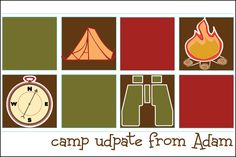 Personalized Camp PostcardsInk Color: Brown  Card Colors:Multicolor  Paper Type:Smooth White Card Stock  Dimensions:6 x 4  Our fun.
