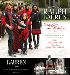 The World of Ralph Lauren, Home for the Holidays, From perfect gifts to festive looks, discover all you need for the entire family, Lauren Ralph Lauren, Home, Elegant gifts and decorating essentials