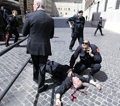 Two wounded in shooting as new Italy government swears in