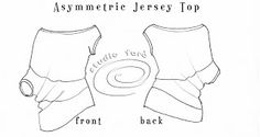 well-suited: Pattern Puzzle - Asymmetric Jersey Top