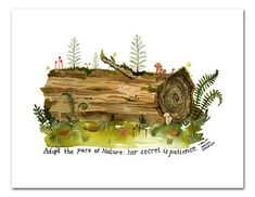 THIS LISTING INCLUDES: ~ Nurse Log (8.5 x 11 inches, signed, unframed) ~ Archival reproduction print of my original watercolor ~Printed using
