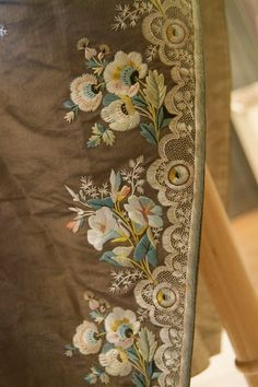 Embroidery Detail on a Justaucorps ca 1780-1800 at Bavarian National Museum Munich