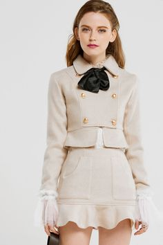 Beige outfit for office Women Fashion Preppy Outfits, Girly Outfits, Classy Outfits, Vintage Outfits, Cute Outfits, Fashion Outfits, Womens Fashion, Fashion Tips, Petite Fashion