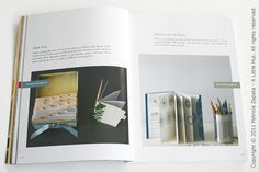 Interior of At Home with Handmade Books