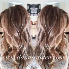 Beach blonde balayage highlights melting into ombrè. Hair by Danni in Denver, CO by rena