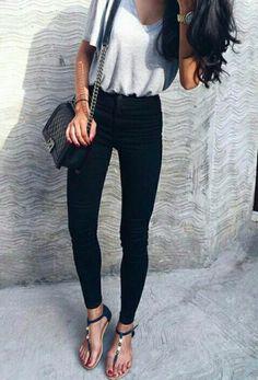 grey + black #topshop