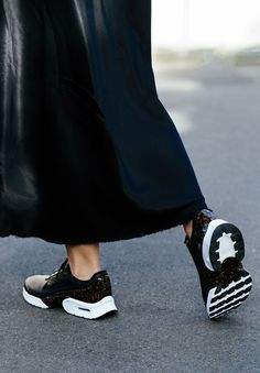 classic fit fe4b4 b729a Wearing Nike Air Max Jewell sneakers, Frame Denim slip dress, Christopher  Esber jacket