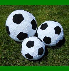 Make one for your favorite soccer fan! Fun Soccerball – Futbol, in three sizes, made of separate hexagons and pentagons which are sewn together to create this great ball. Use as a pillow or toy.