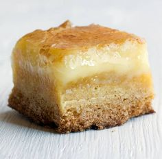 This recipe for Butter Cake - sounds like Paula Deen's Ooey Gooey Butter cake without all that butter (2 sticks vs. 4 oz.)!