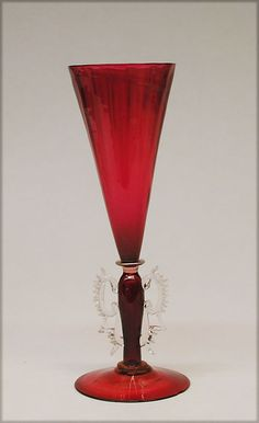 """shewhoworshipscarlin: """" Wine glass, 1700s, Venice, Italy. """""""