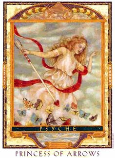 Free Daily Tarotscope -- Mar 6, 2014 - The Princess of Arrows is this deck's version of the Page of Swords. In the Lover's Path Tarot set, the Princesses are represented by famed goddesses, and this particular card references the Greek Goddess Psyche. Psyche was ...