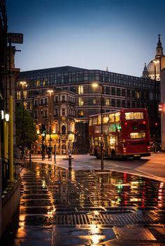 Blackfriars at night, London, England
