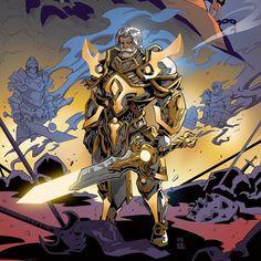 That beard is weird World Of Warcraft, Warcraft 3, Fantasy Warrior, Fantasy Rpg, Dark Fantasy, Character Concept, Character Art, Concept Art, Character Design