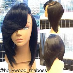 Even though this is a lace wig. The cut on this is soooo sick. Man, if only my hair could do this.