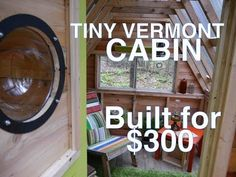 Recycled-Material Cabin/Camp In The Woods (Tiny House Summer Camp) - YouTube  -  To connect with us, and our community of people from around the world, learning how to live large in small places, visit us at www.Facebook.com/TinyHousesAustralia