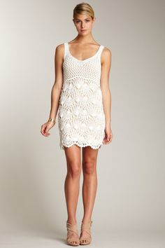 Fun crochet dress.
