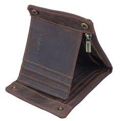 135d6ff2f7b42 Image of Men s Crazy Horse Leather ID Card Case Biford Wallet Money Clip  L117 Crazy Man