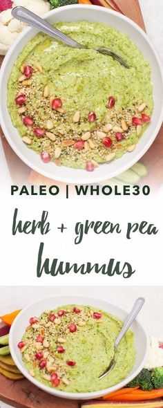 Paleo Herb and Green Pea Hummus Recipe | Empowered Sustenance