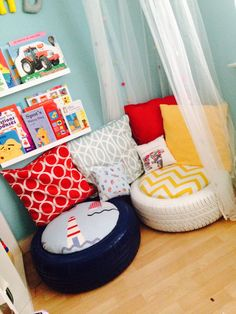 DEB- they don't necessarily need a reading nook, but you do have extra tires in your shed for funky seating!