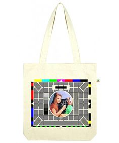 Top Quality 'Recycled' BBC Test Card Shopper Tote Bag White