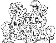 √ My Little Pony Coloring Pages . 4 My Little Pony Coloring Pages . Free Printable My Little Pony Coloring Pages for Kids
