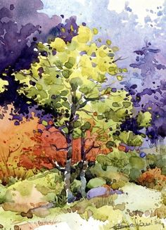 Watercolor landscape by Natalie Graham