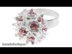 How to Make a Vintage-Inspired Ring using Crystal Clay, Bead Caps, and Chatons - YouTube