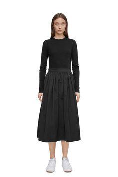 Tech Taffeta Skirt - Dark Blue - Shirts & blouses - ARKET SE