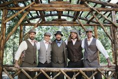 groomsmen in period attire // photo by katherinelizabethphotography.com
