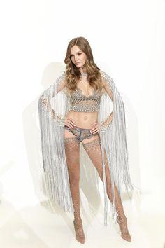 Model Behavior. Josephine Skriver shimmers in over 450,000 Swarovski crystals for the upcoming VS Fashion Show. swarovs.ki/VSfitting