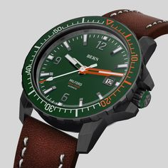 Coming Soon to kickstarter, register your interest today at bernwatch.com   42mm Black pvd Case, Miyota 8215 automatic movement, 300m/1000ft Dive depth, unidirectional clicking bezel with Swiss X1-Grade GL-C3 Superluminova. Anti Reflective coated Sapphire Crystal. One of the most eagerly awaited dive watch launches of 2019 Bern, Watch Brands, Sapphire, Product Launch, Watches, Crystals, Accessories, Black, Black People