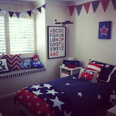 Stars & stripes boys bedroom