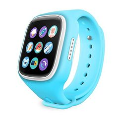 TURNMEON Touch Screen Kids Smart Watch for Children Smartwatch Phone with GPS Tracker Anti-lost SOS Wrist Bracelet for Apple Iphone IOS Android Samsung Sony LG CellPhone (T1Blue)