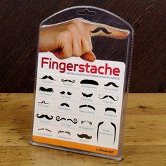 fingerstache fake tattoos.