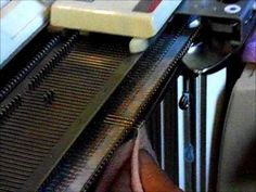 seaming knits with a faux cable all knitting machines - YouTube