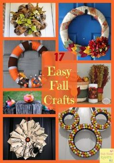 17 Easy Fall Crafts by autumn