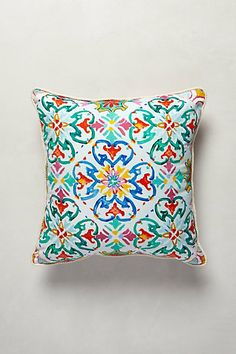 Exotic. Vibrant. Pillows made by Ashley Longshore for Anthropologie.  Under Sun Pillow #anthropologie