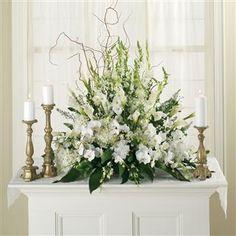All White Altar Arrangement
