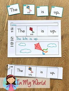 FREE Sight Words and - AP Word Family Worksheets & Activities - Sight Words and Word Families Week 4 – In My World. Free build a word and sentence writing activi - Word Family Activities, Writing Activities, Preschool Activities, Professor, Word Building, Sentence Building, Family Worksheet, Kindergarten Writing, Kindergarten Freebies