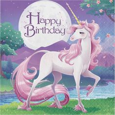 Descriptions Unicorn Fantasy 2 Ply Lunch Napkins Happy Birthday/Case of 192 - Design : Unicorn Fantasy - Capacity : 2 PLY Features - Occasion Girl Birthday - Folded Size approximately 5 inch square - Birthday Wishes Messages, Happy Birthday Quotes, Happy Birthday Images, Happy Birthday Greetings, Birthday Pictures, Birthday Memes, Unicorn Birthday Parties, Girl Birthday, Birthday Lunch