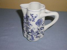 "BLUE DANUBE BLUE ONION PATTERN 5.5"" TALL MILK CREAMER PITCHER. FOR SALE IN MY BLUJAY STORE. http://www.blujay.com/?page=ad&adid=5022339&cat=28040503"
