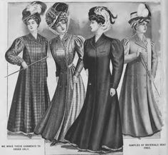 Ladies outerwear in the National Cloak and Suit Company catalogue, 1907