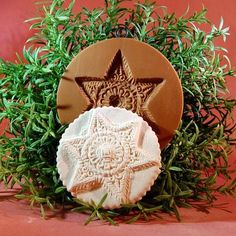 Star springerle cookie mold 1036